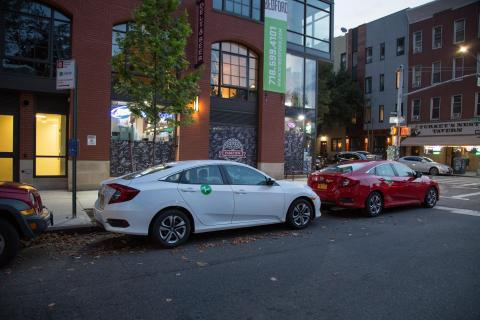 NYC DOT on-street carshare site for Zipcar