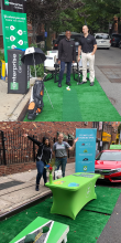 Enterprise Carshare & Zipcar set up for Park(ing) Day